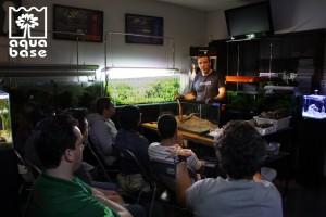 Aula prática sobre montagens de aquários